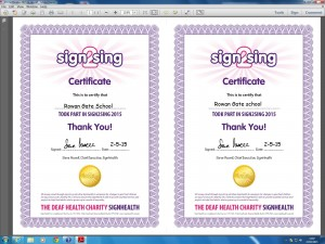 sign2 sing certificate